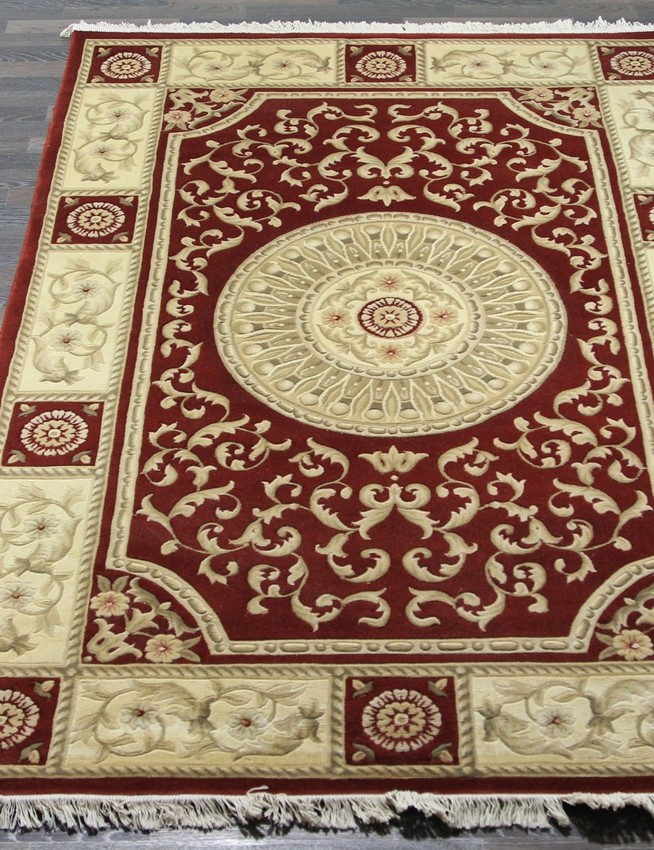 Woolen Machine-made carpets zy2339ma-red