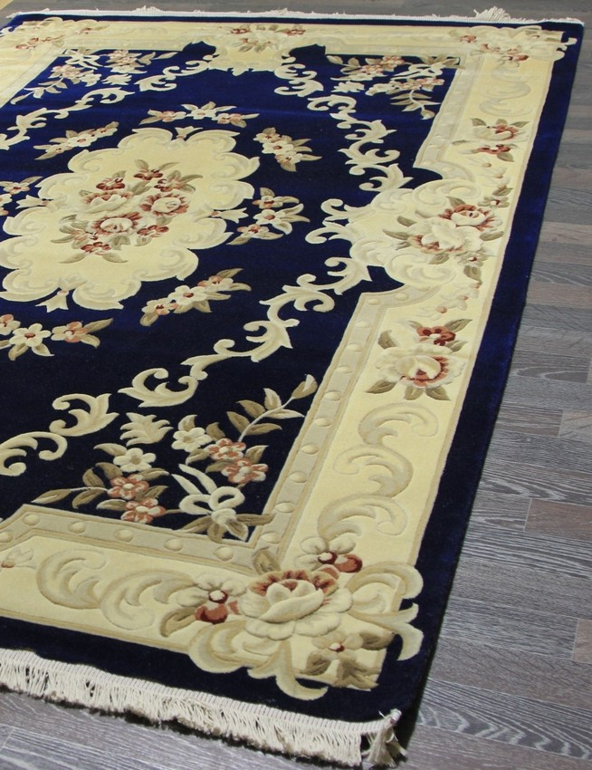 Woolen Machine-made carpets zy0916mc-navy